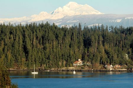 mt  baker: Mt. Baker and the Cascades from Whidbey Island