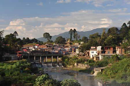 Pashupati tempel in Kathmandu, de heiligste hindoe site in Nepal Stockfoto