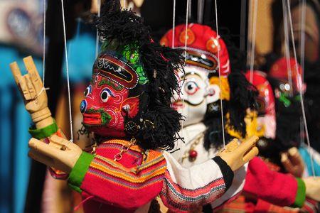 Hindu puppets in Kathmandu, Nepal