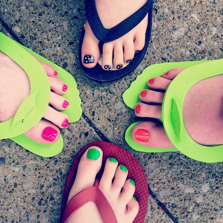 toes: Painted toes