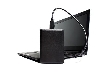 harddisk: Laptop and Harddisk Stock Photo