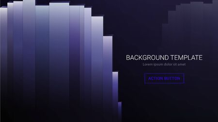 Dark business background template for web gradient colors modern with text block title subtitle and action button placeholder for web, cards, design