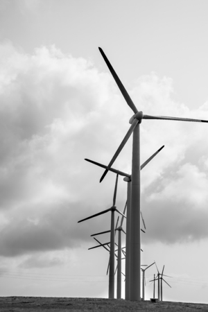 generator: Wind generator Stock Photo