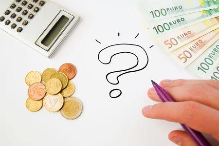 calculator money: Saving money concept