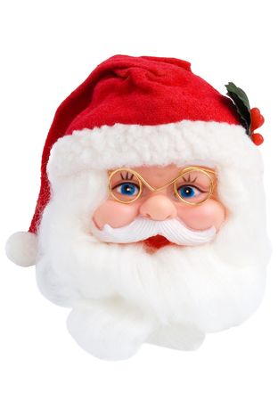 head toy: Santa Clause head isolated on white background
