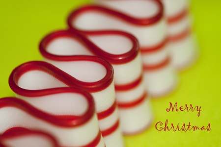 Merry Christmas - Red & White Ribbon Candy Stock Photo - 10727767
