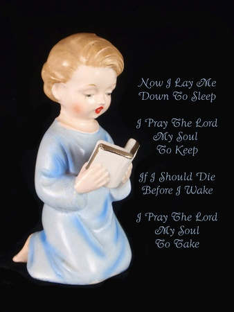 poems: Boy Childs Bedtime Prayer Stock Photo