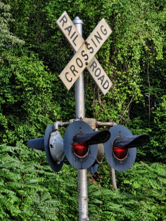 Railroad Crossing Light Stock Photo - 11978621