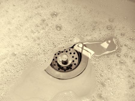 sink drain: A Sink Full Of Suds