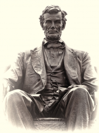 Alexander Adolph Weinman Bronce Estatua de Abraham Lincoln Foto de archivo - 17536637
