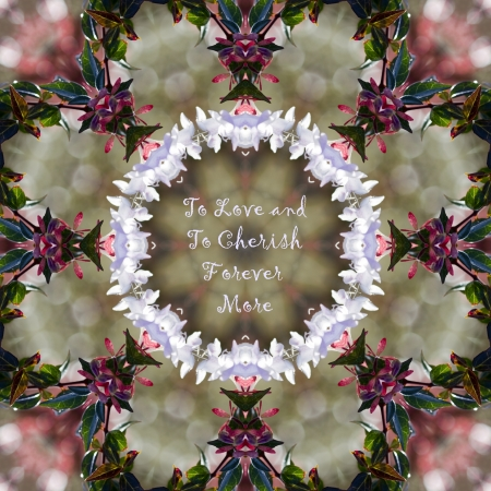 cherish: To Love and To Cherish Floral Kaleidoscope