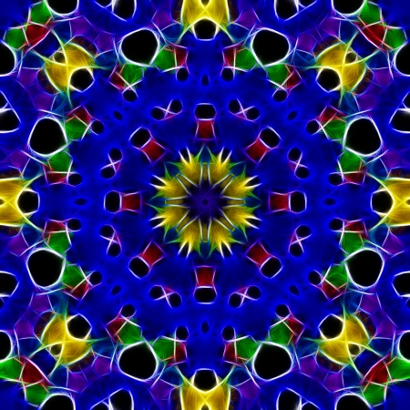 Colorful Primary Color Kaleidoscope