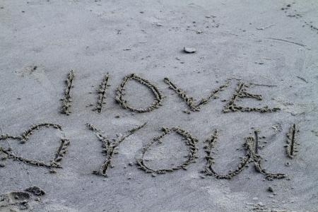 I Love You In The Georgia Sandy Beach