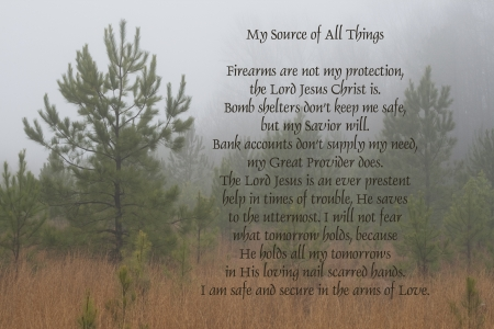 poem: Jesus My Source Of All Things Poem by Kathy Clark Stock Photo