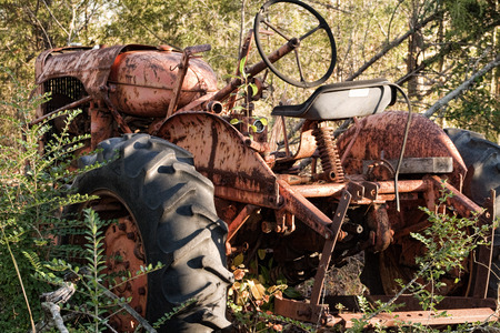 Rusty Old Vintage Abandoned Tractor