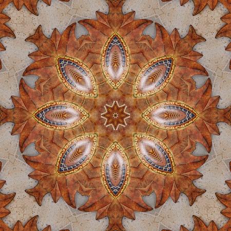 sol: Terracotta Sol Kaleidoscope 2 Stock Photo
