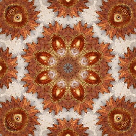 sol: Terracotta Sol Kaleidoscope  Stock Photo
