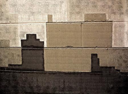 cinder: Gray to Black Cinder Block Art 2