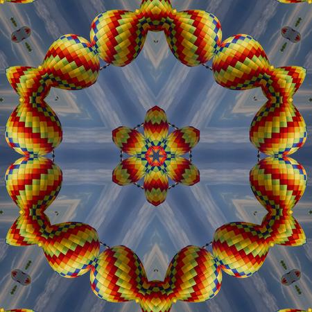 Colorful Hot Air Balloon Kaleidoscope 2