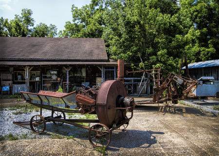 farm equipment: Rusty Old Antique Farm Equipment