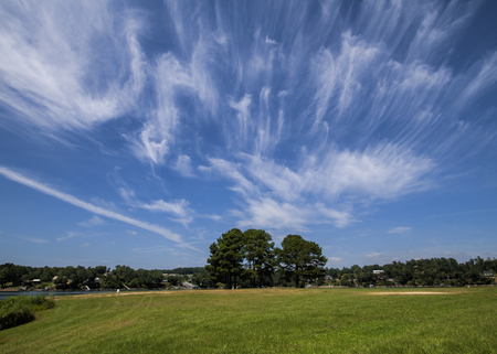 cloud formations: Wispy Cloud Landscape Background