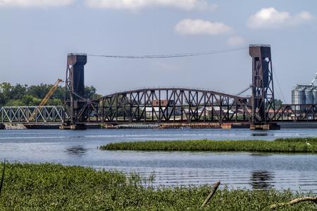 drawbridge: Decatur Alabama Tennessee River Draw-Bridge Stock Photo