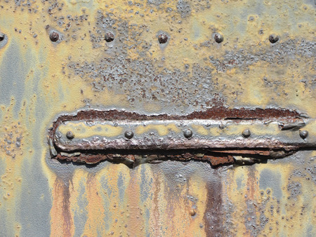 metal door: Rusty Old Grungy Metal Door Hinge 6