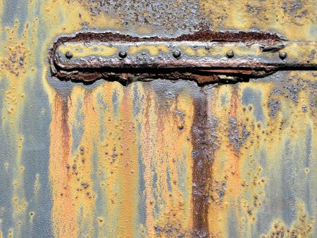 metal door: Rusty Old Grungy Metal Door Hinge 5