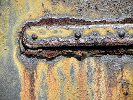 metal door: Rusty Old Grungy Metal Door Hinge 3