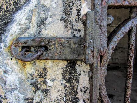 bracket: Antique Hand Forged Iron Lock Bracket 2