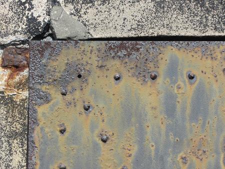 Textura oxidada del metal del Grunge Puerta Foto de archivo - 58641293