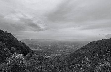 Great Smoky Mountain Park Black and White