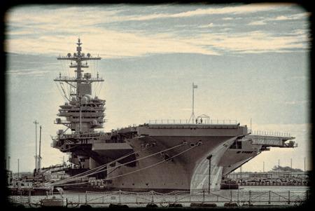 Naval Aircraft Carrier Foto de archivo - 120613520