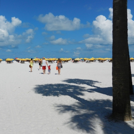 Familie op Clearwater Beach FL