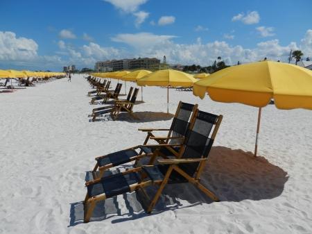 Gele Paraplu op Clearwater Beach