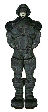 swain: Science fiction man wearing battle armour