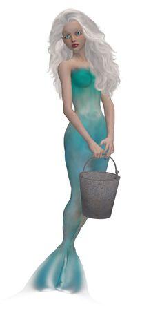 nymphet: Little mermaid with big blue eyes