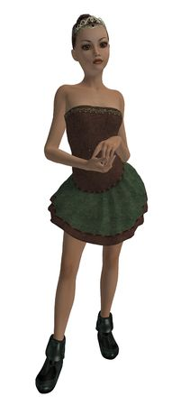 ms: Brunette ballerina with big brown eyes
