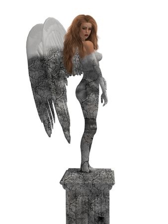 elohim: Statue of an angel coming to life Stock Photo