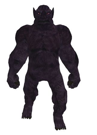 Black silhouette of a troll standing