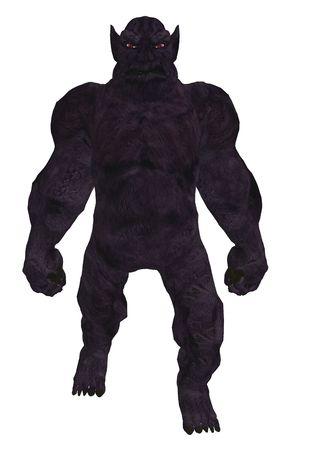 kobold: Black silhouette of a troll standing