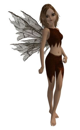 Guardian fairy of the forest in a standing pose