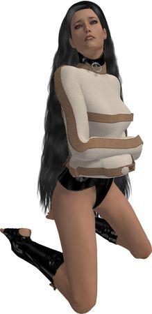Mujer en una camisa de fuerza Foto de archivo - 5082313