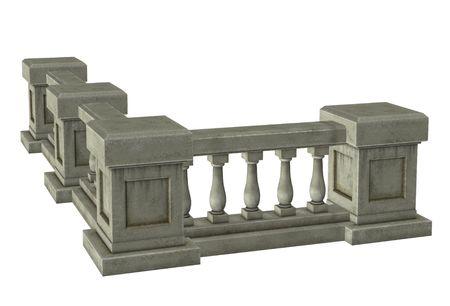 Column with railings