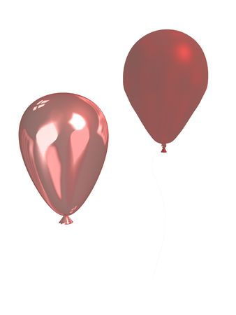 Two pink balloons