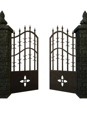 portcullis: A Fantasy gate on a white background