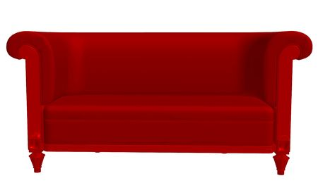Red couch photo