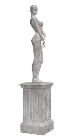 Estatua gris