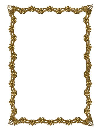 delineate: Gold Frame