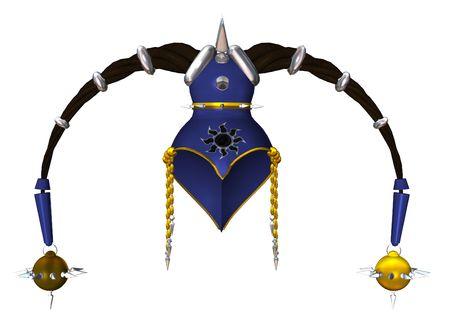 Blue gold headdress Stock fotó